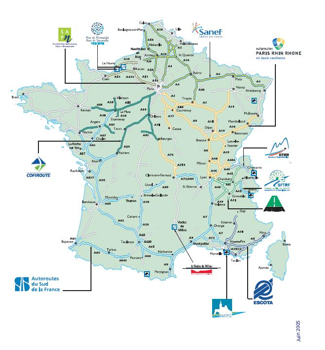 Motorway Map Of France.French Highways Driving In France