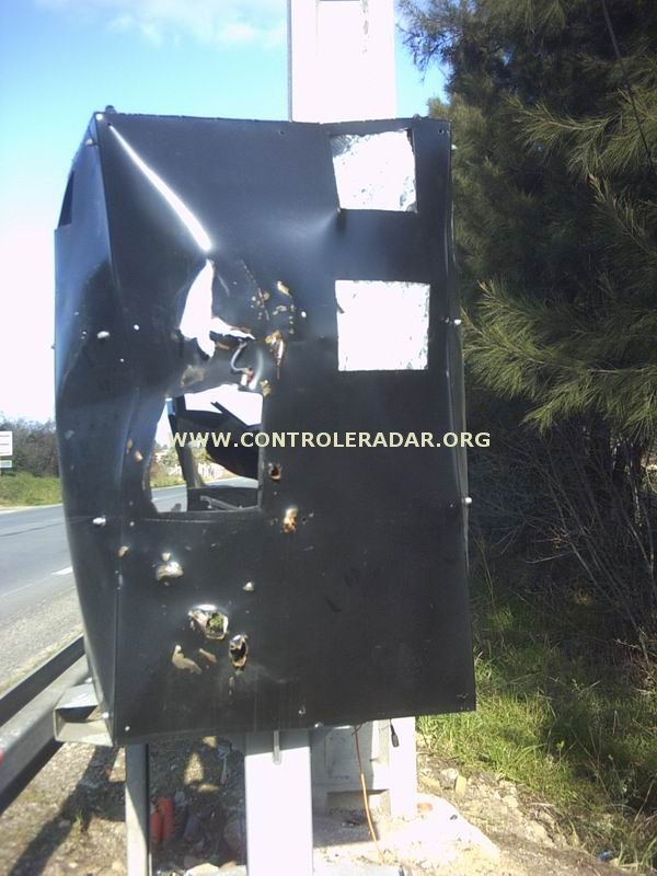 speed camera blown up