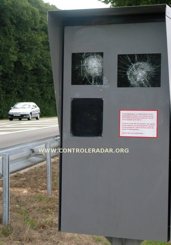 smashed speed radar