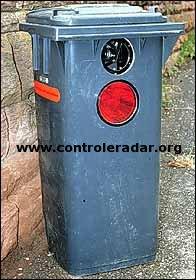 german garbage bin hidden speed camera radar
