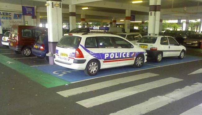 police handicapée