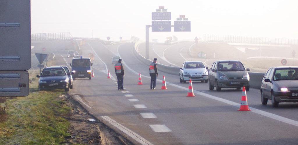Accident sur l'autoroute en se rendant à Lourdes