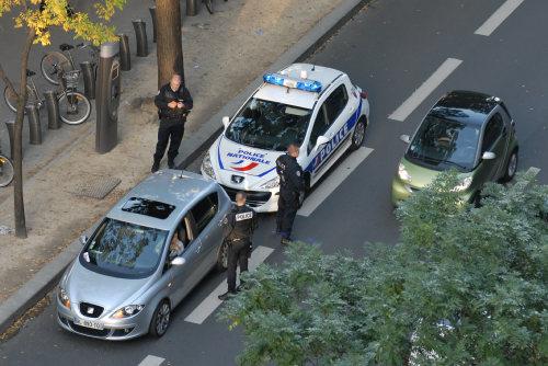 un contrôle de police en direct