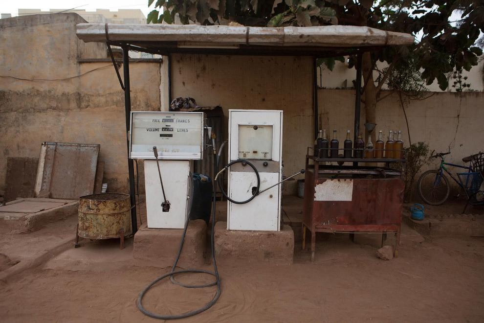 station service à Bamako.