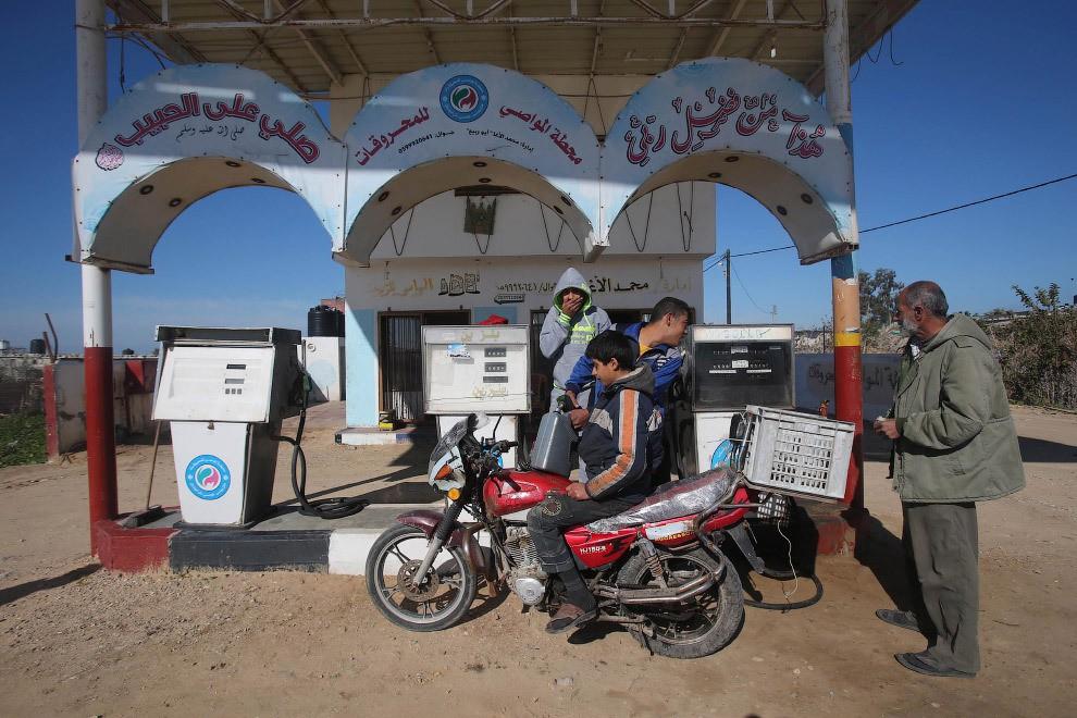station service à Gaza