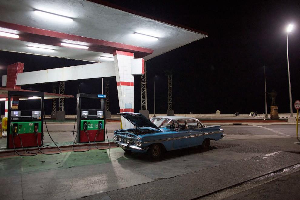 station service à Cuba
