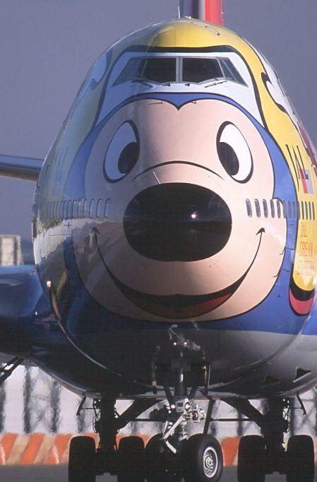 joli dessin sur un boeing 747