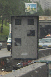 speed camera in France first generation