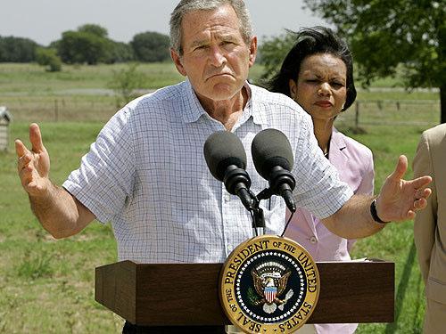 president bush avec mlle rice