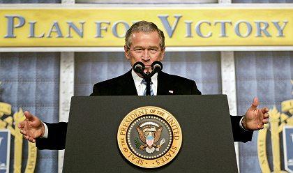 president bush à la pêche