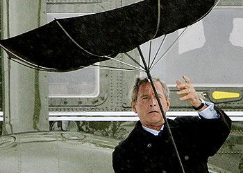 president bush et son hélicoptère