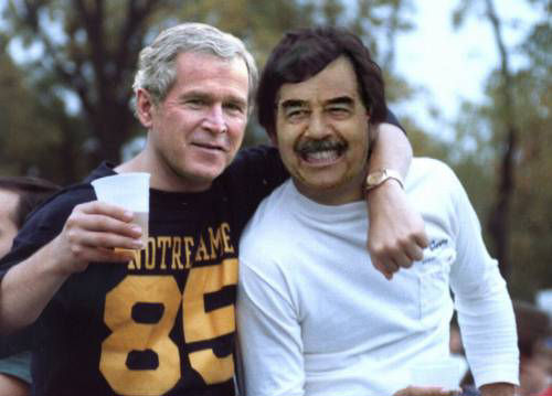 president bush et president saddam hussein