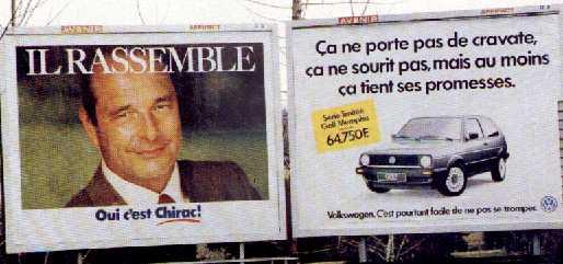chirac campagne politique